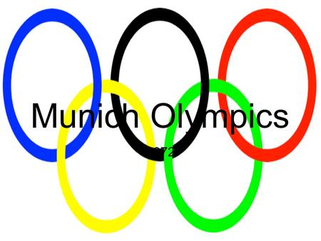 Munich Olympics 1972. On the morning of September 5, 1972, Eight Arab terrorists raided the apartment building that housed the Isreali contigent. Two.