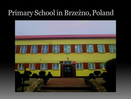 Primary School in Brzeżno, Poland. Artur Mikołajski  HELLO!!!  My name is Artur. I'm 11 years old. I live in the village of Rzepczyno. I go to school.