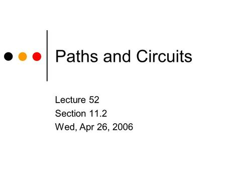 Lecture 52 Section 11.2 Wed, Apr 26, 2006