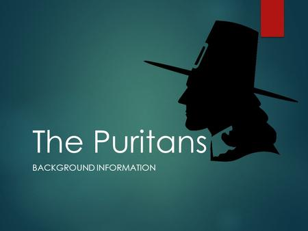 The Puritans BACKGROUND INFORMATION. Puritan Settlements  There were no permanent European settlements north of St. Augustine, FL until around 1607.