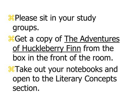 a literary analysis of huckleberry finn by mark twain The paperback of the adventures of huckleberry finn (sparknotes literature guide) by sparknotes, mark twain | at barnes & noble free shipping on $25.