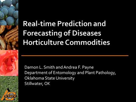 Damon L. Smith and Andrea F. Payne Department of Entomology and Plant Pathology, Oklahoma State University Stillwater, OK.