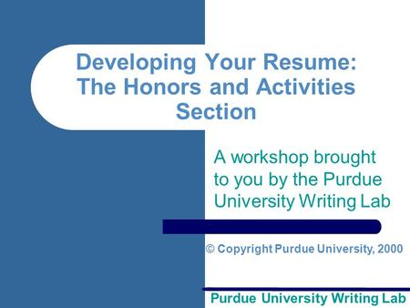 purdue online writing lab thesis statement