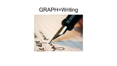 GRAPH=Writing. 1. Autobiography (n) – writing about a person's life written by THAT person.