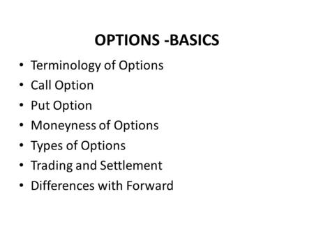 Option trading rules of thumb
