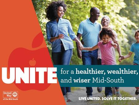 TitleJanuary 18, 2016 1. TitleJanuary 18, 2016 2 Today's United Way United Way has been a part of the Mid-South community for over 90 years Outstanding.