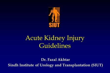 Acute Kidney Injury Guidelines