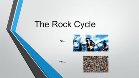 The Rock Cycle No …. Yes…... Rocks Defined Solid mixture of crystals of one or more minerals.