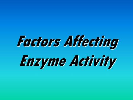 enzyme controlled reaction factors affect chemical structu Chapter 11 mechanism of enzyme action 1 enormous variety of chemical reactions within a cell 2 this together with the previously discussed factors.