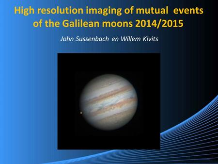 High resolution imaging of mutual events