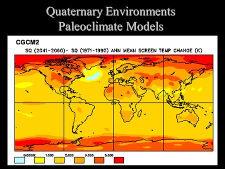 Quaternary Environments Paleoclimate Models. Types of Models  Simplify a system to its basic components  Types of Models  Physical Models  Globe 