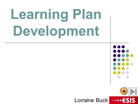 Learning Plan Development Lorraine Buck. Managing Learning and Teaching The challenge is To take the CHANCE out of success.