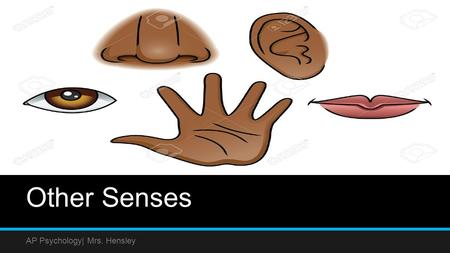 Other Senses AP Psychology| Mrs. Hensley. Touch When our skin is indented, pierced or experiences a change in temperature, our sense of touch is activated.