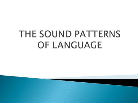  Making explicit statements about the sound patterns of individual languages in order to discover something about linguistic knowledge that people must.