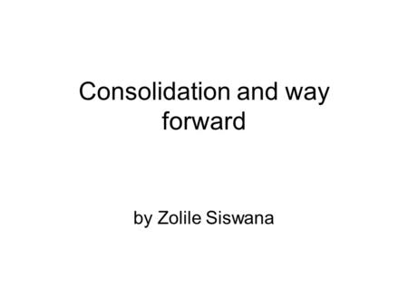 Consolidation and way forward by Zolile Siswana. Socio-Economic Intervention Plan (SEIP) A 're-imagined city': a three-part NMB Socio-Economic Intervention.