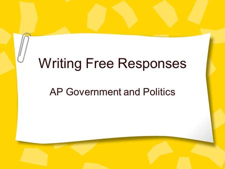 ap government essay question
