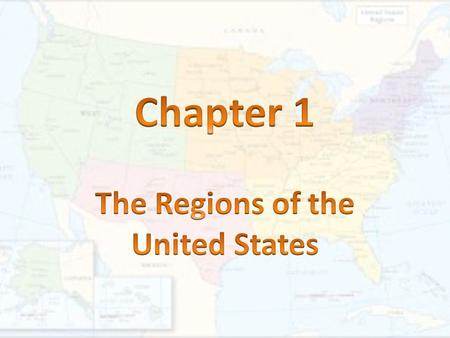 1. region- A large area in which places share similar characteristics.