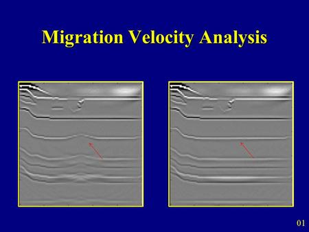 Migration Velocity Analysis 01. Outline  Motivation Estimate a more accurate velocity model for migration Tomographic migration velocity analysis 02.
