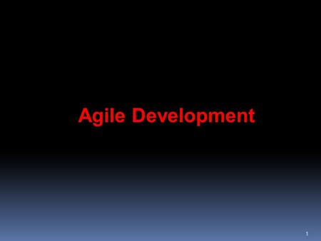 "1 Agile Development. The Manifesto for Agile Software Development 2 ""We are uncovering better ways of developing software by doing it and helping others."