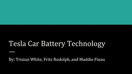 Tesla Car Battery Technology
