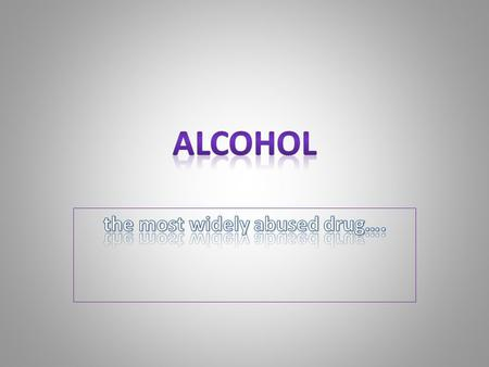 DO NOW: Is alcohol a drug? Why Why Not? Is a drug that affects the bodies function. It is the oldest drug in the world. It is regulated because it CAN.