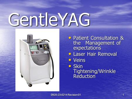 GentleYAG Patient Consultation & the Management of expectations