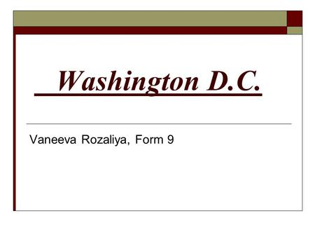 Washington D.C. Vaneeva Rozaliya, Form 9.