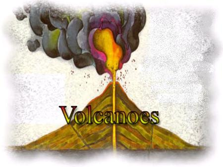 Volcano An opening in the earth's crust through which molten lava, ash, and gases are ejected.