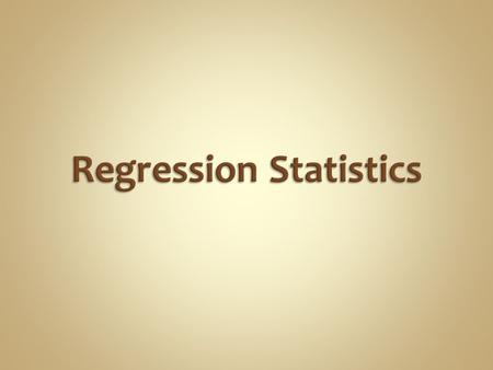 Engineers often: Regress data to a model  Used for assessing theory  Used for predicting  Empirical or theoretical model Use the regression of others.