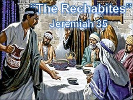 """Sinful Census"" This evening I would like for us to consider one of Jeremiah's most unusual illustrations as God tells Jeremiah to offer wine to a family."
