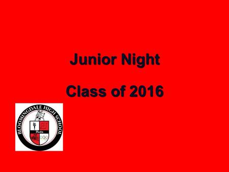 Junior Night Class of 2016. Topics Graduation Requirements Graduation Requirements Guidmii Guidmii Bright Futures Bright Futures Post-Secondary Options.