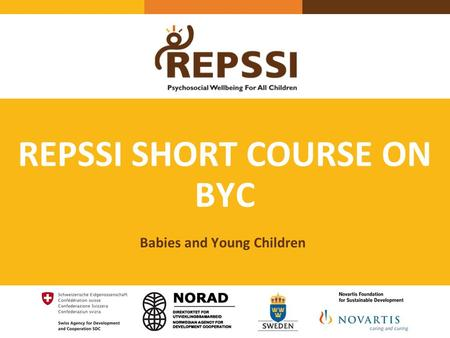 REPSSI SHORT COURSE ON BYC Babies and Young Children.