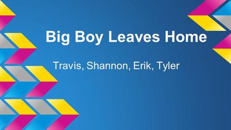 Big Boy Leaves Home Travis, Shannon, Erik, Tyler.