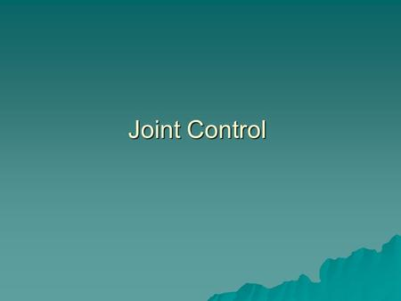 Joint Control. Study  Task –Delayed matching to sample –Kids see a sample symbol and learn to make a hand sign to it (tact) –Kids learn to make the sign.