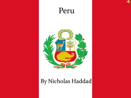 Peru By Nicholas Haddad. Peru-Currency Peru's currency is the Peruvian Nuevo Sol The difference between Nuevo Sol and U.S. Dollars is 2.54 Nuevo Sol=$1.00,