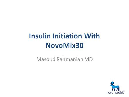 Insulin Initiation With NovoMix30