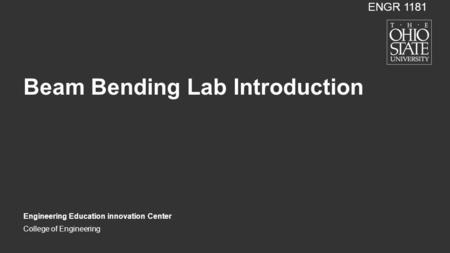 Beam Bending Lab Introduction