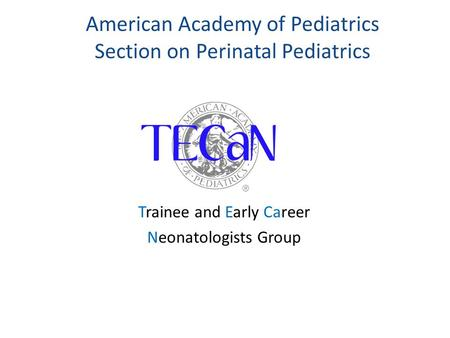 American Academy of Pediatrics Section on Perinatal Pediatrics Trainee and Early Career Neonatologists Group.