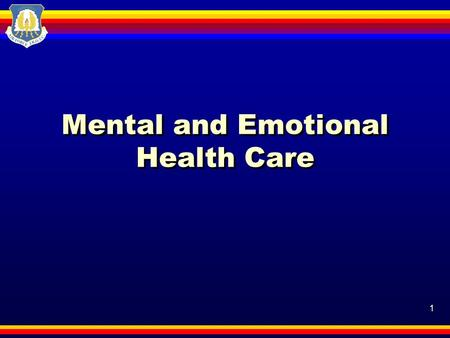 1 Mental and Emotional Health Care. 2 Motivation Emotions are feelings created in response to thoughts, remarks, and events. Today, you'll learn about.