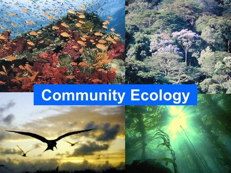 Community Ecology Please do not use the images in these PowerPoint slides without permission.