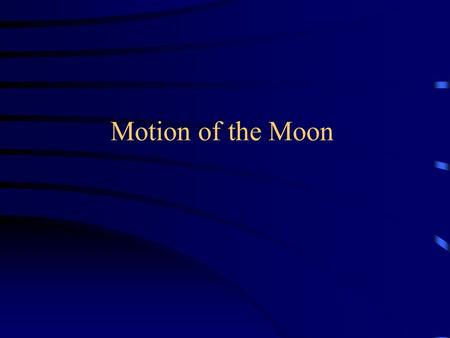 Motion of the Moon. Moon shines not by its own light but by reflected light of Sun  Origin of the phases of the moon Moon revolves around the Earth period.