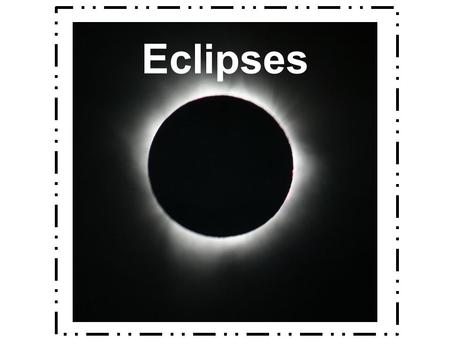 Eclipses. What is an eclipse? The partial or total blocking of one object in space by another When the moon or Earth casts a shadow on the other It can.