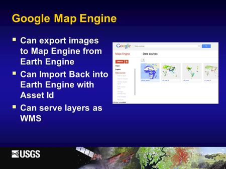Google Map Engine Can export images to Map Engine from Earth Engine