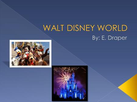  Walt Disney World is located in Lake Buena Vista, Florida.