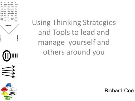 Using Thinking Strategies and Tools to lead and manage yourself and others around you Richard Coe.