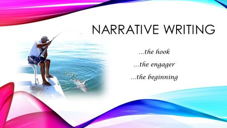 NARRATIVE WRITING …the hook …the engager …the beginning.