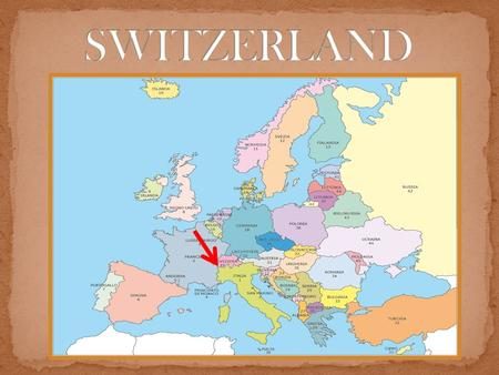 Switzerland is situated in Western and Central Europe. It is bordered by Italy to the South, France to the West, Germany to the North and Austria and.