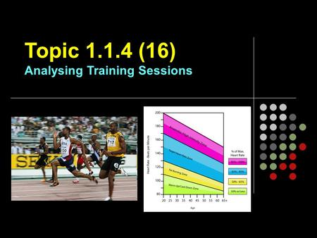 Topic (16) Analysing Training Sessions