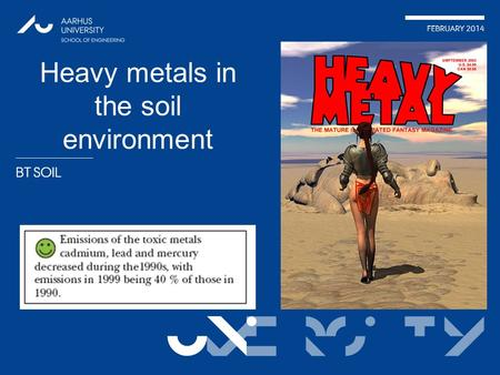 Heavy metals in the soil environment