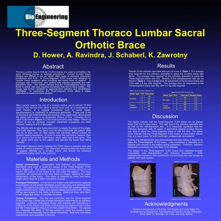 Abstract Thoraco Lumbar Sacral Orthotic (TLSO) braces are used to immobilize the spine following injuries or surgical procedures. Current bi-valve brace.